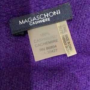 MAGASCHONI oversized 100% cashmere scarf